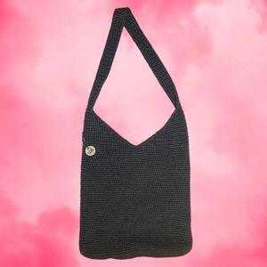 The Sak Charcoal Crochet Boho Hobo Shoulder Bag